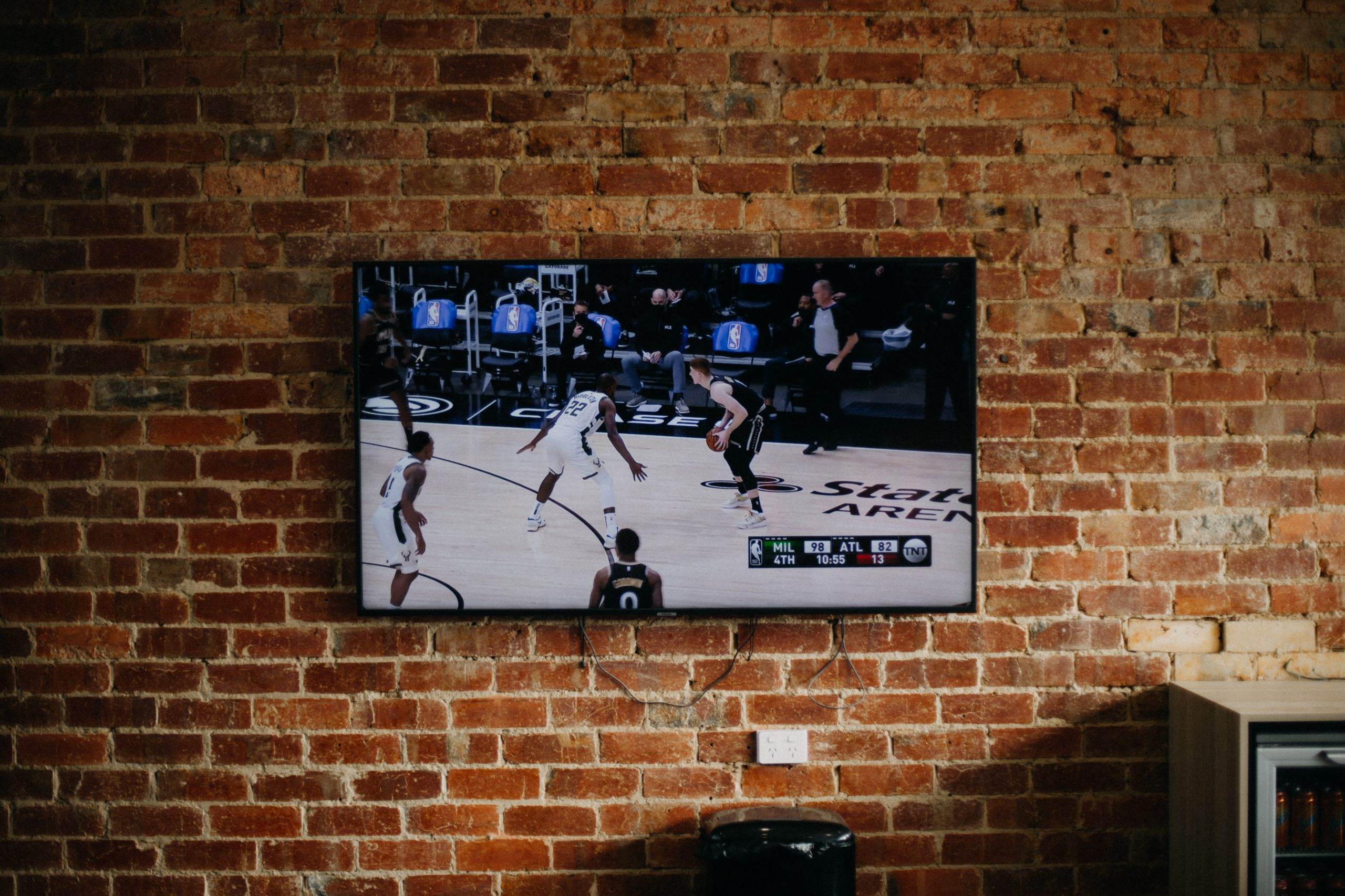 Tv on Brick Wall Las Vegas